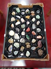 Sale 8680 - Lot 1093 - Tray of Semi Precious Polished Rocks