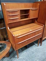 Sale 8782 - Lot 1066 - AJ Spejl Teak Desk with Slide Out Top