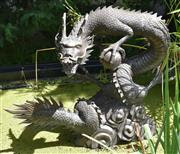 Sale 8950G - Lot 85 - Bronze dragon fountain 85cm wide 70cm height 85cm wide