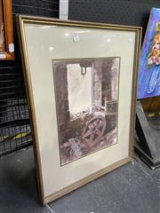 Sale 9004 - Lot 2061 - Peter Chesney Workshop Window, watercolour, frame; 78 x 61 x 3 cm, signed lower right