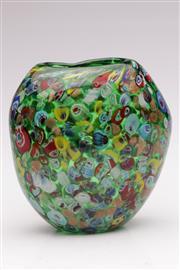 Sale 9052 - Lot 22 - Venetian Millefiori Glass Vase (H: 18cm)