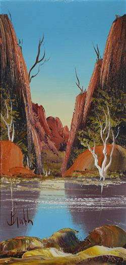 Sale 9093A - Lot 5046 - Henk Guth (1921 - 2002) - Central Australia II 30 x 14 cm (frame: 34 x 19 x 2 cm)