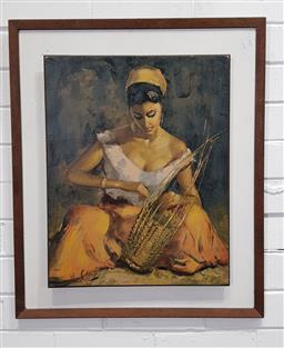 Sale 9157 - Lot 1094 - Vintage framed print (h:66 x w:56cm)