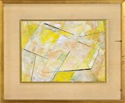 Sale 8325 - Lot 555 - Frank Hinder (1906 - 1992) - Yellow/White, 1971 20 x 27cm