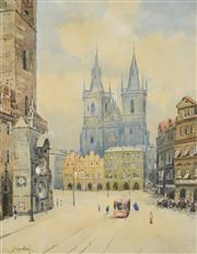 Sale 8518A - Lot 58 - J. Novotny (XIX - XX) - Cathedral 56 x 44cm