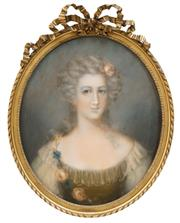 Sale 8519 - Lot 571 - Manner of Jean-Marc Nattier (1685 - 1766) - Courtesan 59.5 x 48cm