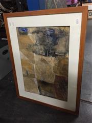 Sale 8784 - Lot 2061 - Janet Alderson - Snow in El Escorial, Spain mixed media 67 x 85cm (frame), signed -