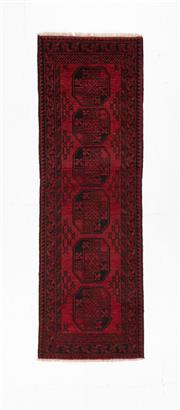 Sale 8780C - Lot 289 - An Afghan Turkaman 100% Wool On Cotton Foundation And Natural Dyes, 280 x 75cm