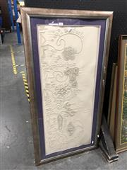 Sale 8789 - Lot 2088 - Flower Embroidery Picture