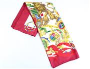 Sale 8837 - Lot 373 - GIANFRANCO FERRE SILK SCARF; depicting coat of arms with lions and virtues, with rolled edges and label, 87 x87cm.