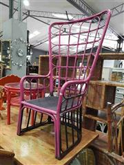 Sale 8912 - Lot 1047 - Over Sized Pink Cane Chair