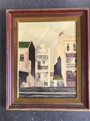 Sale 8964 - Lot 2059 - Joyce Wheatley Terrace Houses oil on board,  57 x 47cm (frame), signed
