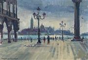 Sale 8992 - Lot 575 - Franklin Bennett (1894 - 1976) - San Giorgio Maggiore, Venice 18.5 x27 cm (frame: 33 x 44 x 4 cm)