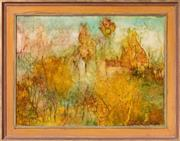 Sale 9071H - Lot 20 - Judy Chapman - Abstract Treescape 44cm x 59cm