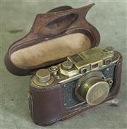 Sale 8319 - Lot 301 - Reproduction Leica camera and case circa 1980s