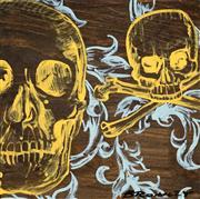 Sale 8492 - Lot 516 - David Bromley (1960 - ) - Skulls 40 x 40cm