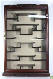Sale 8603 - Lot 94 - Chinese Rosewood Wall Display Cabinet