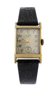 Sale 8618A - Lot 47 - A vintage Lord Elgin tank wristwatch;