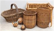 Sale 8644A - Lot 70 - A group of basket wares and gourds including African and Balinese.