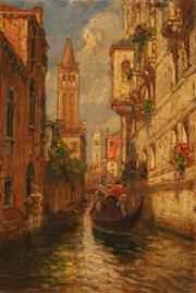 Sale 8657A - Lot 5068 - Artist Unknown (C20th) - C18th Venetian Scene 53x 35.5cm