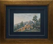 Sale 8716 - Lot 2043 - Artist Unknown (Early C20th) - Highland Landscape and Distant View of Mountains, 1919 17 x 24cm