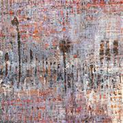 Sale 8771 - Lot 2034 - Sally Rourke - Optimism 2005 oil on board, 40 x 40cm (frame), signed -