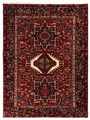 Sale 8780C - Lot 290 - A Persian Azerbaijan Gharajeh Turkish Knotted 100% Wool Pile And Geometrics Design, 190 x 144cm