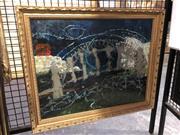 Sale 8833 - Lot 2055 - Artist Unknown - Sydney Harbour Scene oil on canvas board, 38.5 x 49.5cm (frame) signed indistinctly lower left -