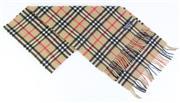 Sale 8837 - Lot 369 - A VINTAGE BURBERRYS OF LONDON CASHMERE NOVA CHECK SCARF; with label, 30 x 144cm with fringe.