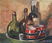 Sale 8870 - Lot 2002 - Muriel Annie Elliott (1898 - 2005) - Bottles and Mugs 29.5 x 36