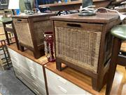 Sale 8896 - Lot 1044 - Pair Of Bedsides With Pull Out Baskets