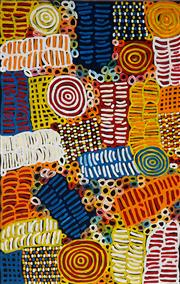 Sale 8938 - Lot 588 - Betty Mbitjana (1955 - ) - Bush Melons 128 x 82 cm (stretched and ready to hang)