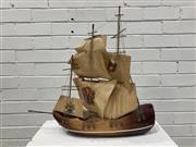 Sale 9059 - Lot 1009 - Vintage Spanish Frigate Form Table Lamp (H:42cm)