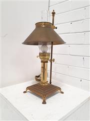 Sale 9071 - Lot 1063 - Converted Gas Lamp (h:50cm)