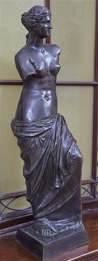 Sale 9080H - Lot 13 - A French 19th C bronze figure depicting Venus de Milo, signed Musee du Louvre.  Height 96 cm