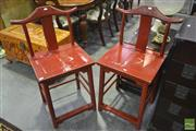 Sale 8284 - Lot 1017 - Pair of Chinese Chairs