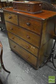Sale 8345 - Lot 1067 - Early 19th Century Mahogany Campaign Chest, fitted with five drawers & on bun feet
