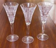 Sale 8346A - Lot 55 - Three Waterford crystal champagne toasting glasses