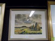 Sale 8407T - Lot 2057 - Artist Unknown - Country Cottage and Haystacks, watercolour, 22 x 30.5cm, signed lower left