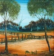 Sale 8492 - Lot 534 - Kevin Charles (Pro) Hart (1928 - 2006) - Stock Yard 19.5 x 19cm
