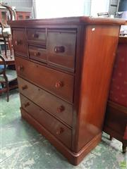 Sale 8598 - Lot 1058 - Cedar Chest of Seven Drawers, with rounded corners & plinth base