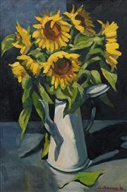 Sale 8642A - Lot 5084 - Guntis Jansons (1945 - ) - Sunlit Sunflowers, 1996 49 x 34cm
