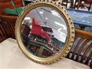 Sale 8717 - Lot 1047 - Round Gilt Framed Bevelled Edge Mirror