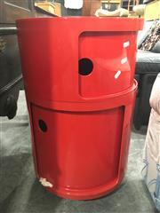Sale 8724 - Lot 1089 - Red Two Tier Kartell Bedside