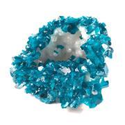 Sale 8758 - Lot 5 - Blue Crystal Assemblage over Quartz
