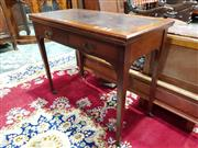 Sale 8774 - Lot 1050 - Late Victorian Walnut Combination Desk & Card Table, with tooled leather on top & green baize interior, with two drawers & tapering...
