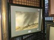 Sale 8776 - Lot 2052 - D M Coombe - Storm watercolour, 26 x 36cm (frame) signed -