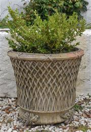 Sale 8950G - Lot 88 - A superb European concrete pot  53cm Height excluding plant