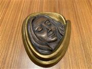 Sale 9022 - Lot 1043 - Mid Century Figural Terracotta Wall Plaque (h:23cm)