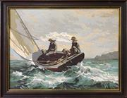 Sale 9024 - Lot 2045 - Artist Unknown Braving the Wind and Waves acrylic on board 54 x 69cm (frame)